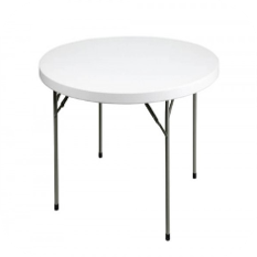 4ft round white plastic table hire essex