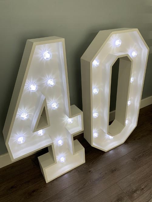 Light Up Number Hire In Essex