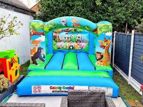 Small Jungle Themed Bouncy Castle Hire Essex